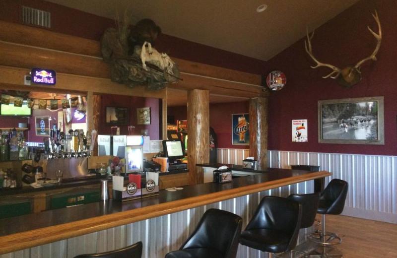 Bar view at Ninepipes Lodge.