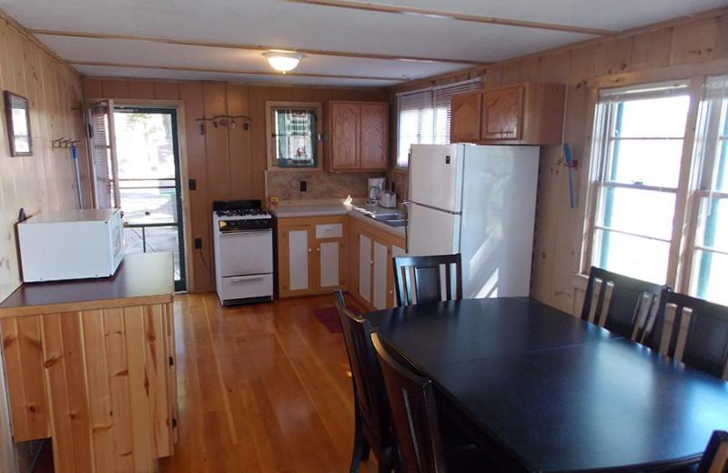 Cabin kitchen at Wilderness Resort Villas.