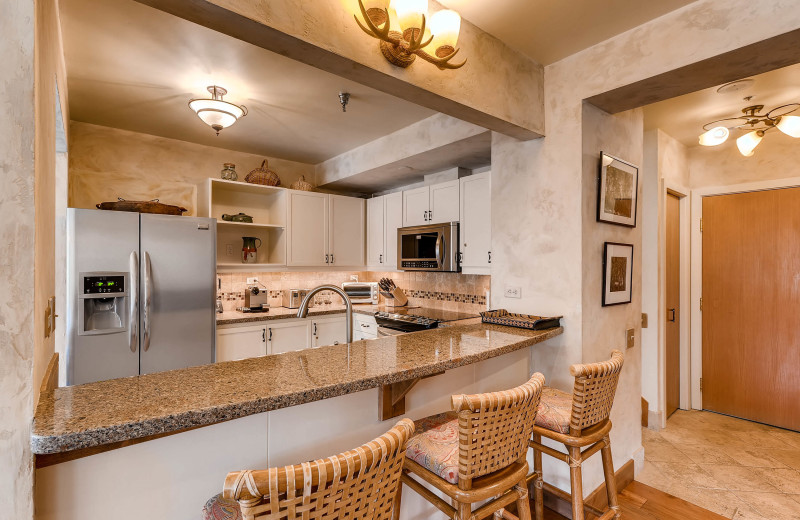 Rental kitchen at Centennial Lodge of Beaver Creek.
