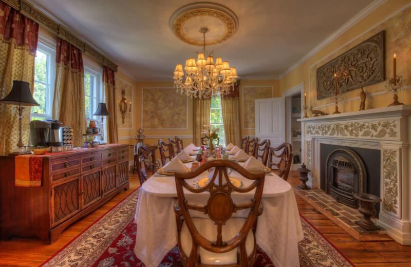 Dining room at Chestnut Hill Wedding & Reception Venue.