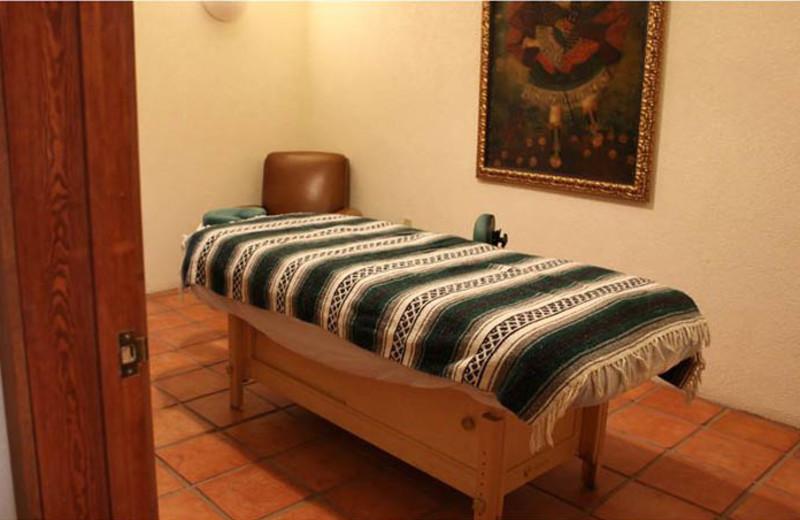 Spa massage table at Cibolo Creek Ranch.