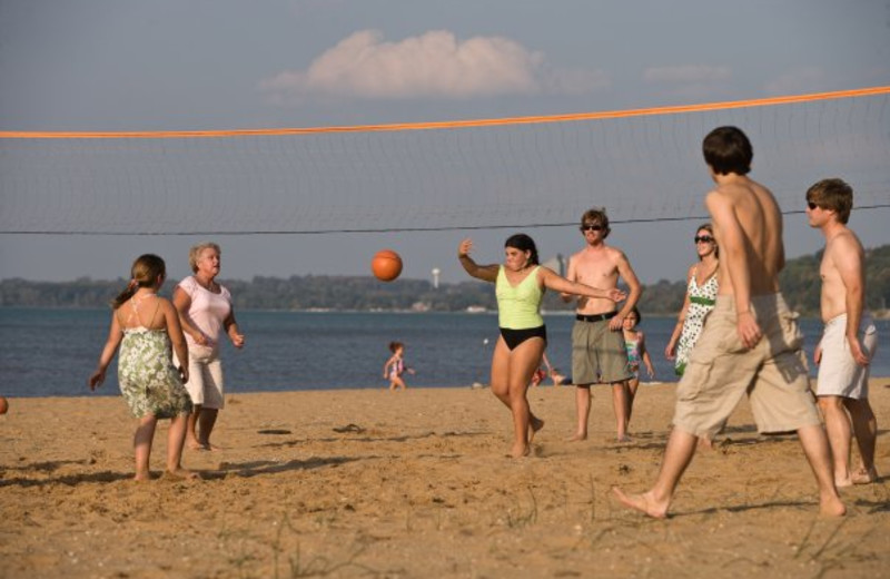 Beach volleyball at Tamarack Lodge.