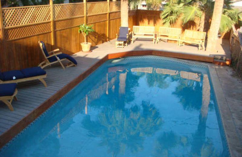 Outdoor pool at Carole's Bed & Breakfast Inn.
