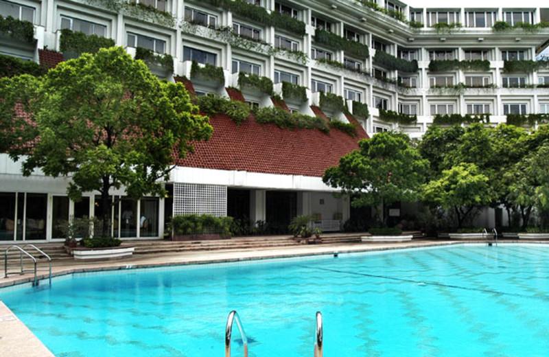 Outdoor pool at Taj Bengal.