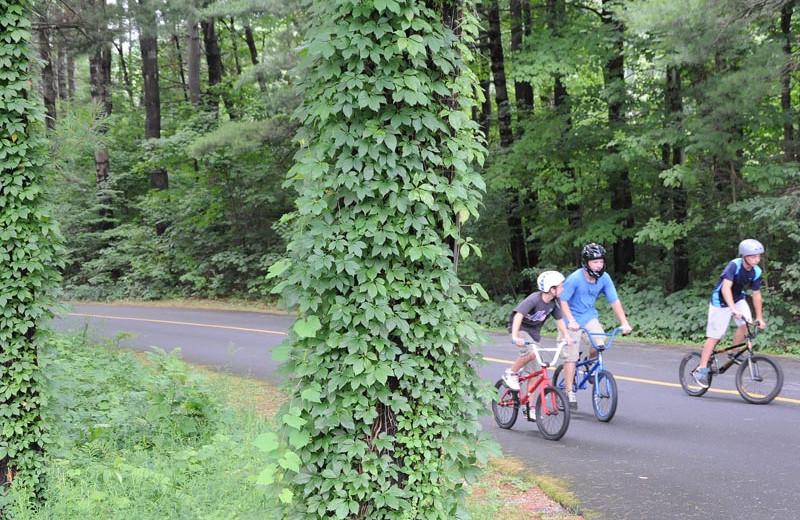 Bike riding at Lake George RV Park.