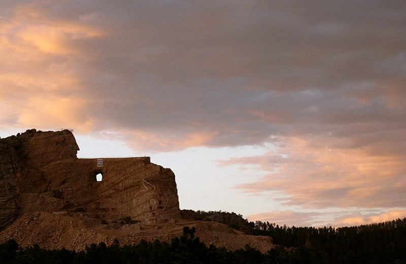 Sunset at Rushmore Express Inn & Family Suite.