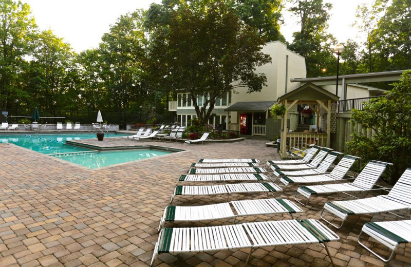 Outdoor pool at Chalet Village.