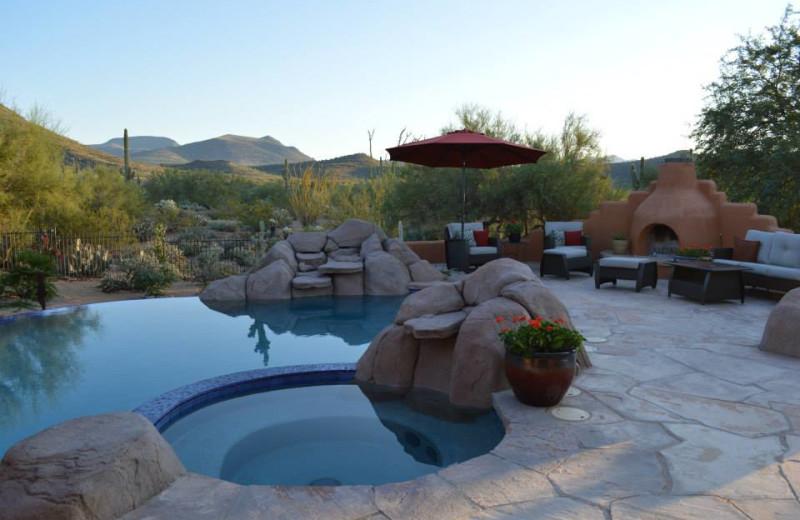 Outdoor pool at Full Circle Ranch B & B.