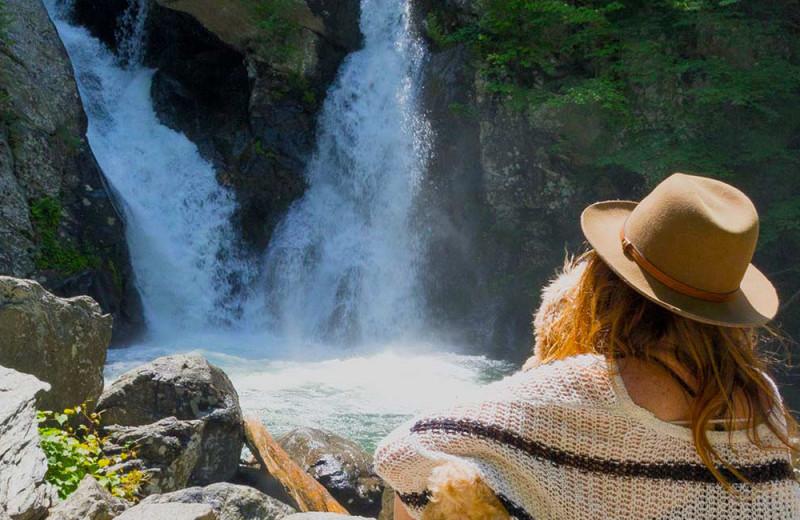 Waterfall at Birchwood Inn.
