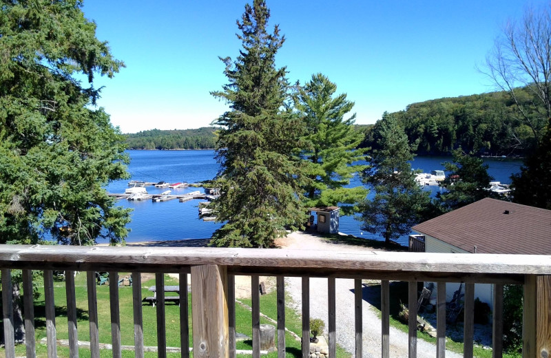 Balcony view at Little Hawk Resort & Marina.
