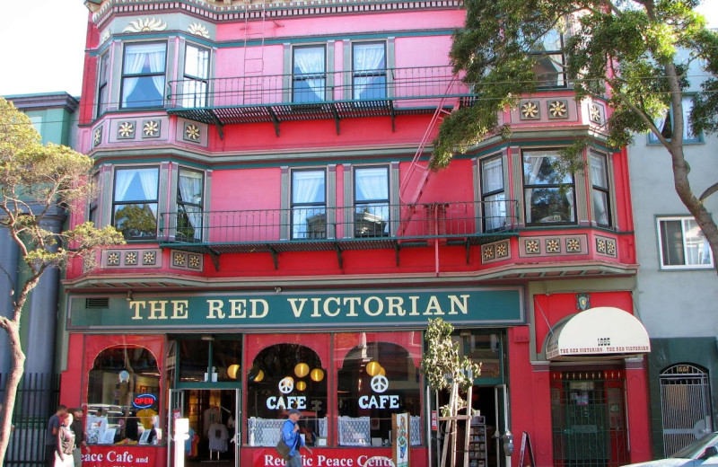 Exterior view of Red Victorian Bed & Breakfast.