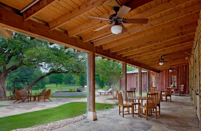 Porch at Hyatt Regency Hill Country Resort and Spa.