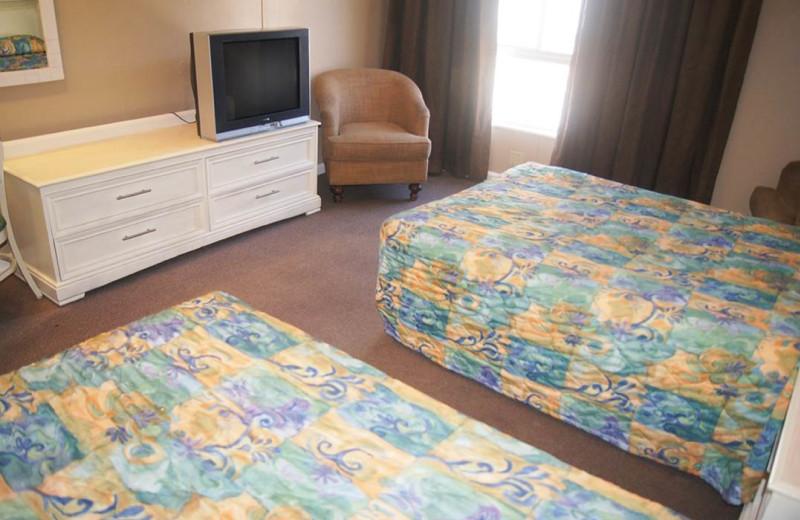 Guest room at Polynesian Beach Resort.