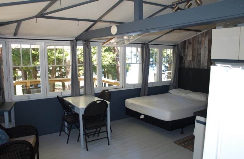 Cabin interior at Sandy Beach at Otter Lake.