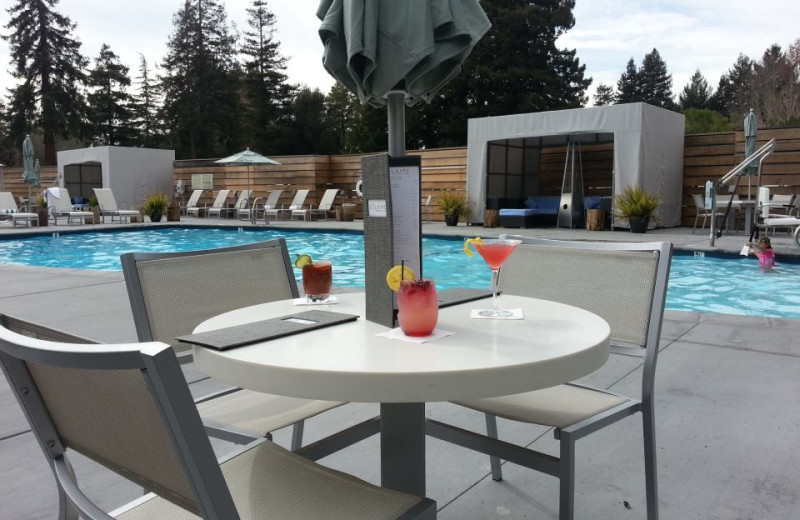 Poolside Table at Hotel Paradox