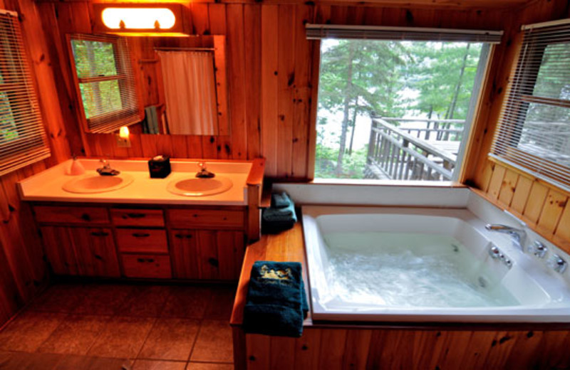 Bathroom with Whirlpool in Northshore Cabin