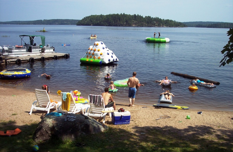The beach at Pine Point Lodge.