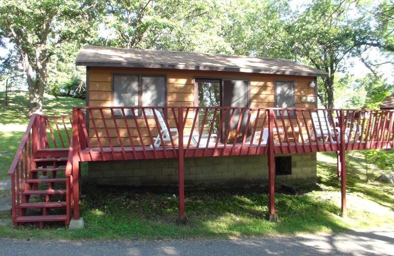 Cabin exterior at Fair Hills Resort.