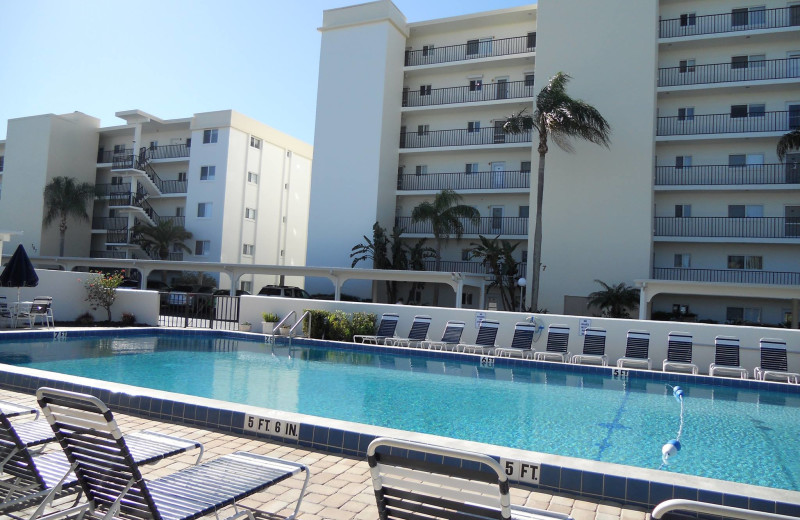 Outdoor pool at Crescent Royale Condominiums.