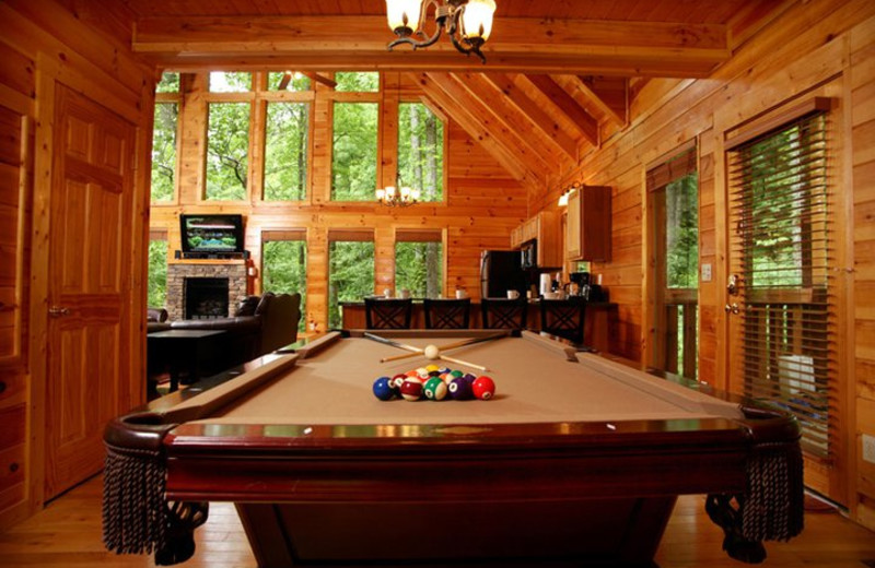 Rental game room at Jackson Mountain Homes.