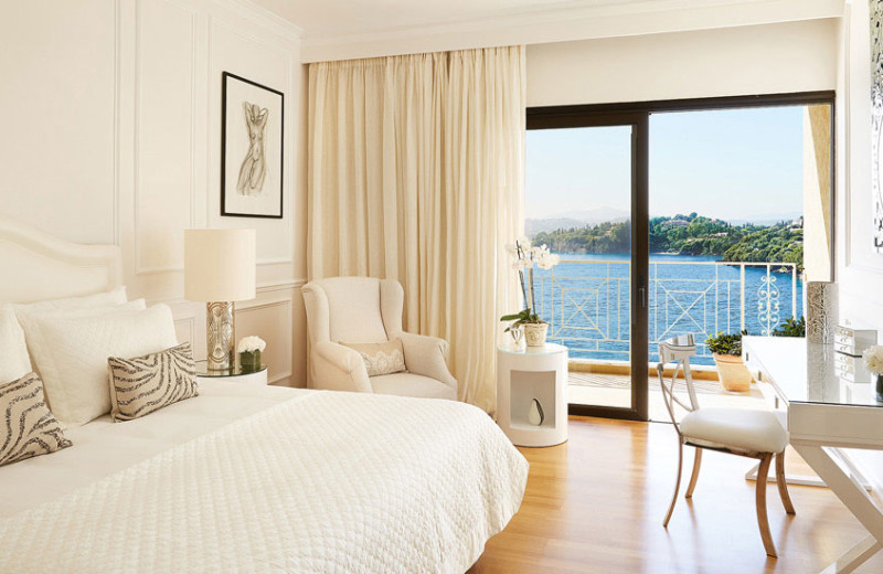 Guest room at Grecotel Corfu Imperial.