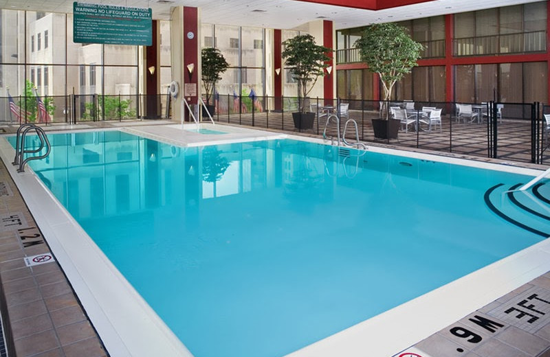 Indoor pool at Crowne Plaza Hotel St. Paul Riverfront.