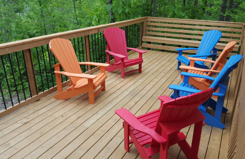 Cottage deck at Ogopogo Resort.