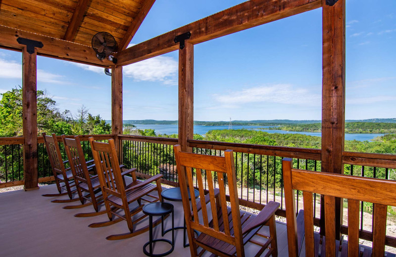 Rental deck at Amazing Branson Cabin Rentals - RentBranson.