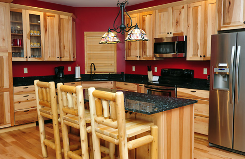 Vacation rental kitchen at Timberline Mountain-Access Properties.