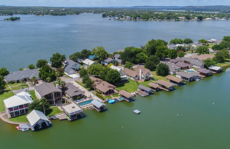 Aerial view of Splash Time Vacation Home.