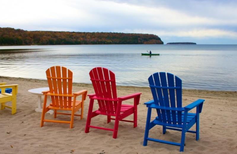 Beach chairs at Bay Breeze Resort.