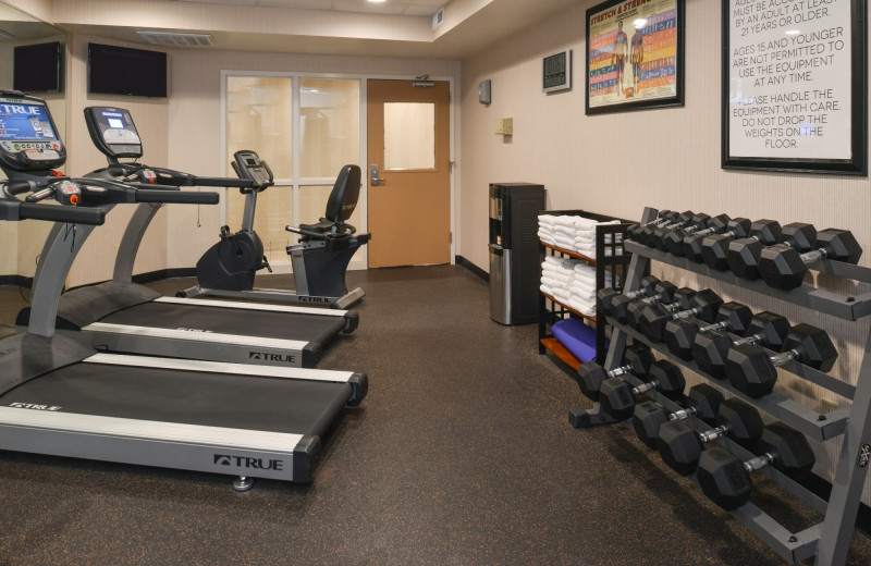 Fitness room at The Best Western Abbey Inn Hotel.