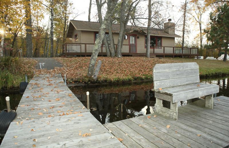 Dock view at Lost Lake Lodge.