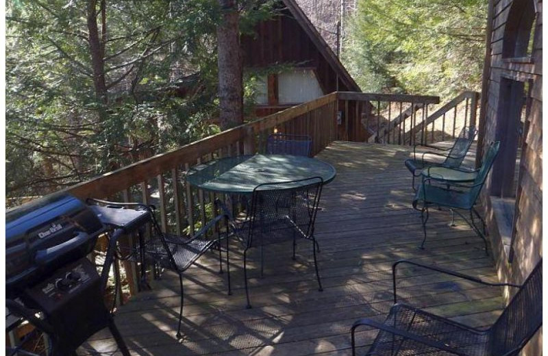 Cabin deck at Red River Gorge Cabin Company.
