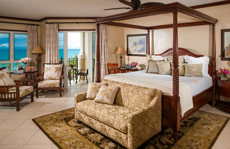 Guest room at Sandals Antigua Resort and Spa.