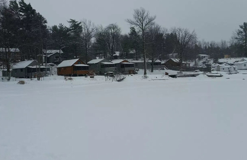 Winter at Riverbay Adventure Inn.