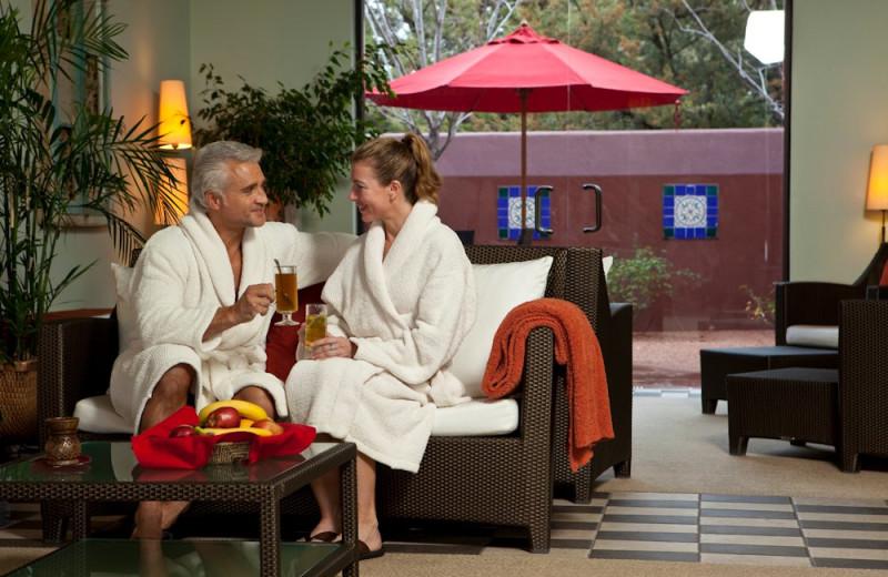 Spa lounge at Sedona Rouge Hotel.