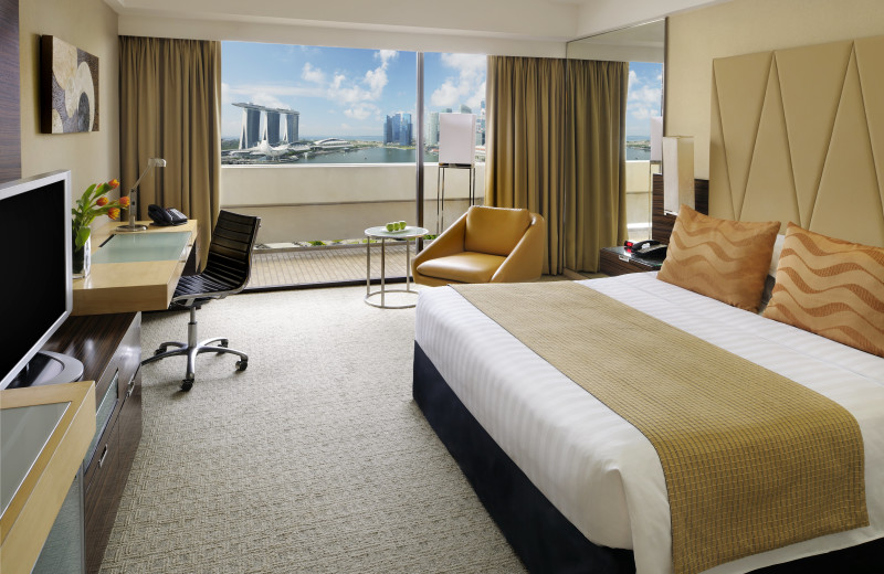 Guest room at Marina Mandarin.