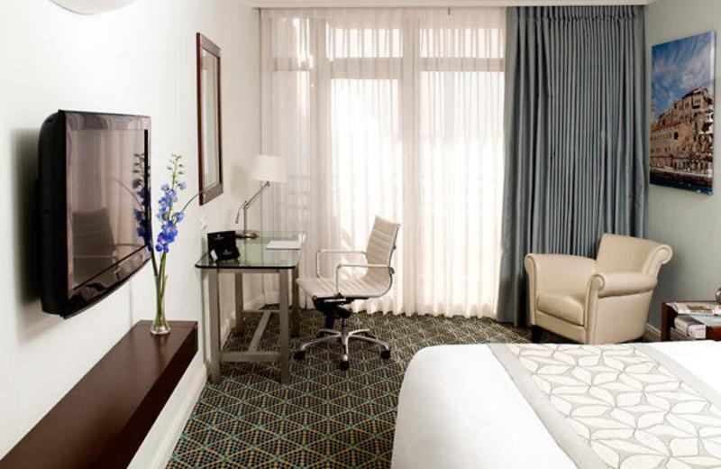 Guest room at Renaissance Tel Aviv Hotel.