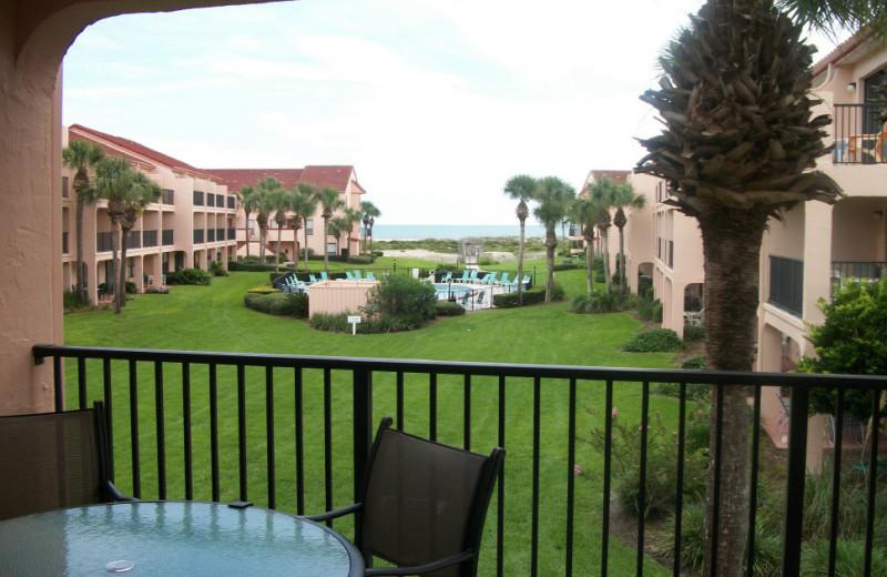 Rental balcony at Saint Augustine Beach Vacation Rentals.