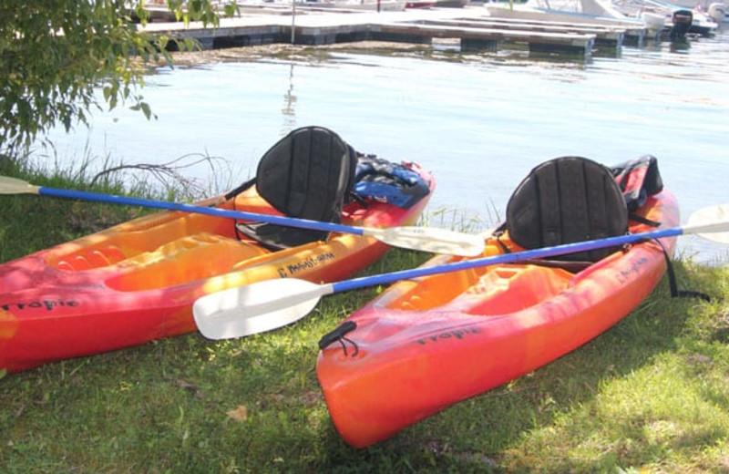 Kayaking at Silver Beach Resort.