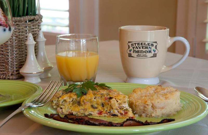 Breakfast at Steele's Tavern Manor B&B.