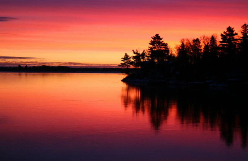 Sunset at Arrowhead Lodge & Resort.