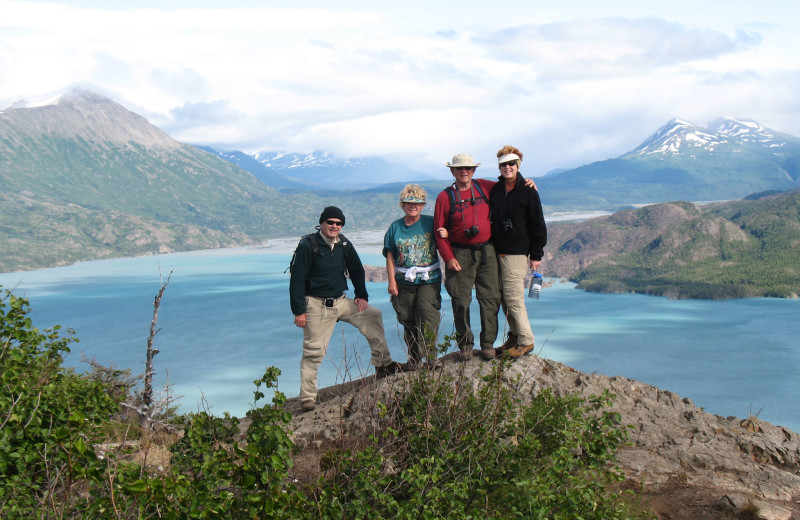 Hiking with family at Great Alaska Adventure Lodge.