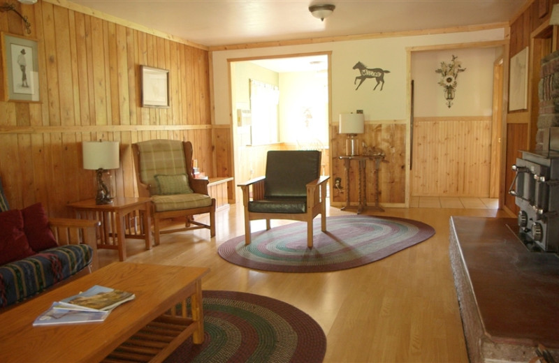 Guest living room at Ghost Canyon Ranch.