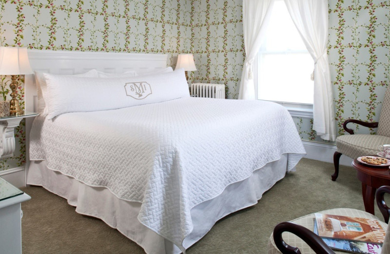 Guest bedroom at Maine Stay Inn & Cottages.