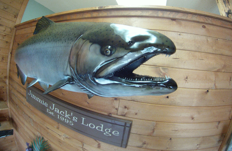 Mounted fish at Jimmie Jack's Alaska Fishing Lodges.