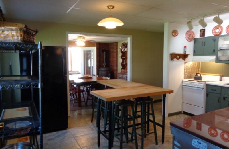 Lodge kitchen at HighWinds Lodge & Cottages.