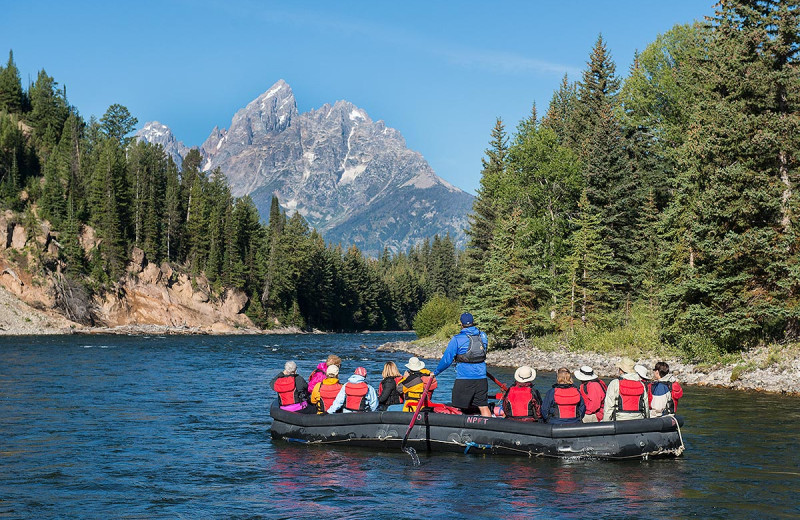 Raft trips at Triangle X Ranch.