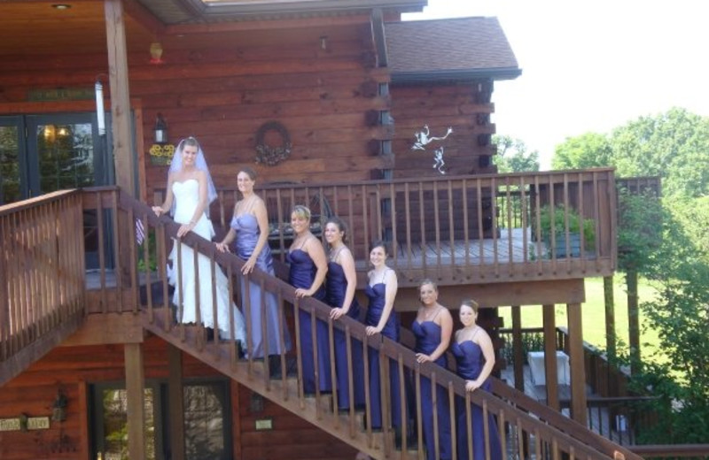 Wedding at Harpole's Heartland Lodge.